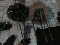 Material intervenido en A Mariña empleado por furtivos.