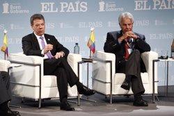 Juan Manuel Santos y Felipe González