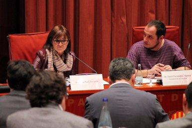 Foto: Marta Pujol Ferrusola lamenta que es posa en dubte el seu contracte municipal pels seus cognoms (PARLAMENT)