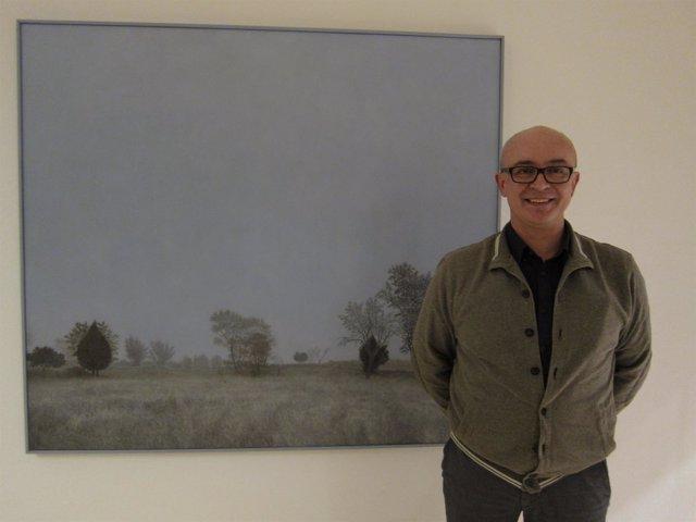 """Foto: Pintor Julián Valle destaca el """"prestigio"""" del jurado del premio del Parlamento"""
