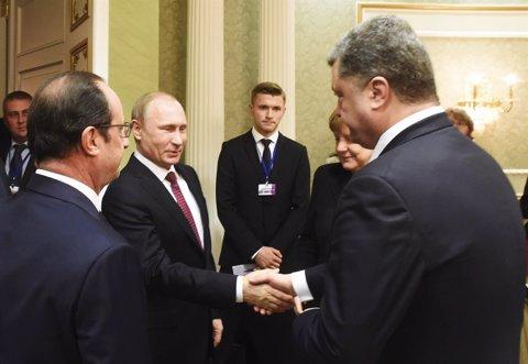 Reunión en Minsk, Putin Poroshenko