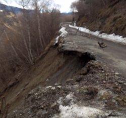 Foto: Els 14 habitants de Biasca queden aïllats per un despreniment (EUROPA PRESS)