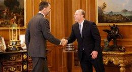 Foto: El rey recibe al director de operaciones de Microsoft (ALBERTO ESPADA/EUROPA PRESS)