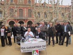 Foto: Els promotors de la ILP de la renda garantida de ciutadania urgeixen a aprovar-la aquesta legislatura (EUROPA PRESS)