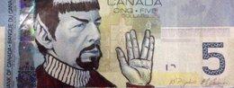 Foto: Banco de Canadá pide a seguidores de Star Trek que paren de homenajear a Spock en los billetes de cinco dólares (TWITTER)