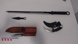 Foto: Detenido por intentar matar con una catana a su mujer (MOSSOS D'ESQUADRA)