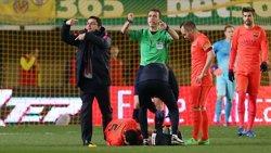 Foto: Busquets es perdrà com a mínim el partit del Rayo en confirmar-se la seva lesió al turmell (MIGUEL RUIZ-FCB)