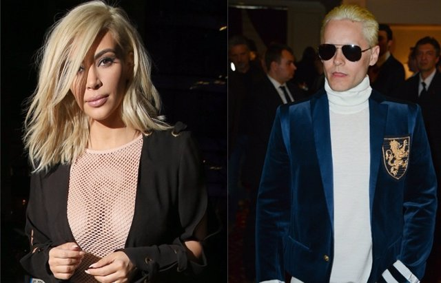 Foto: Kim Kardashian y Jared Leto ponen de moda el rubio platino en París (CORDON)
