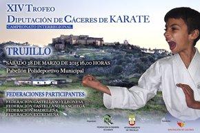 Foto: El XIV Trofeo Diputación de Cáceres de Kárate se celebra este sábado en Trujillo con más de 50 jóvenes (CEDIDA)