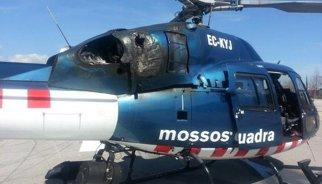 Successos.- Aterratge forçós d'un helicòpter dels Mossos per una avaria