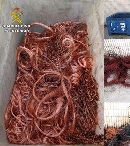 Foto: Detenidas 16 personas y recuperados 1.608 kilos de cable de cobre (EUROPA PRESS/DELEGACIÓN)