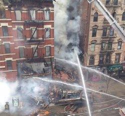 Foto: 19 ferits per l'esfondrament d'un edifici a Nova York (DEPARTAMENTO DE BOMBEROS DE NUEVA YORK)