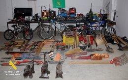 Foto: Seis detenidos por robo y venta de material agrícola (G. CIVIL BURGOS)