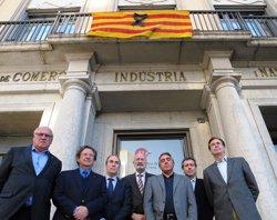 Foto: Acc.Aeri.- Empresaris gironins se solidaritzen amb familiars de les víctimes (CÁMARA DE COMERCIO GIRONA)