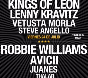 Foto: Robbie Williams, Kings Of Leon y Avicii en el festival Hard Rock Rising de (HARD ROCK RISING)