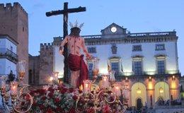 Foto: El Cristo de la Victoria abre este sábado las procesiones en Cáceres (EUROPA PRESS)