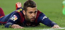 Foto: Jordi Alba estará unos diez días de baja (MIGUEL RUIZ-FCB)