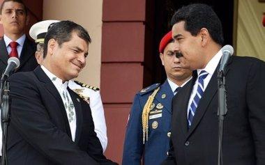 """Foto: Correa: """"Venezuela no es una amenaza, las amenazas están en otros lados"""" (ANDES)"""