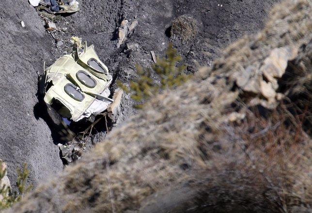 FZOna del accidente del avión de Germanwings estrellado en los Alpes
