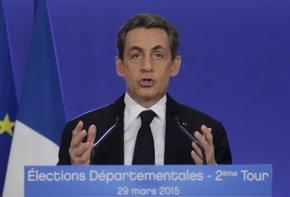 Foto: Sarkozy proclama la victoria de la derecha ante la izquierda