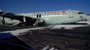 Foto: La investigación revela que el avión de Halifax chocó con una antena (TSB CANADÁ)