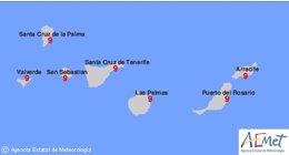 Foto: El índice de radiación ultravioleta en Canarias será muy alto durante los próximos días (AEMET)