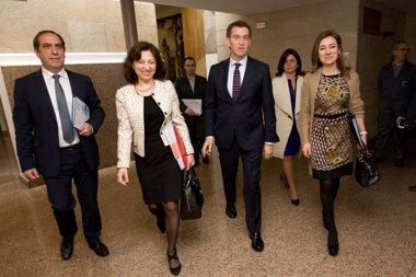 Foto: Feijóo y Currás reivindican el cumplimiento del déficit (XUNTA)