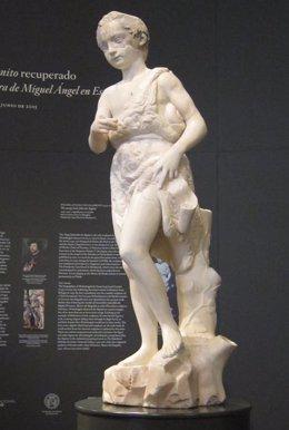 Foto: El 'San Juanito' de Miguel Ángel se exhibe restaurado por primera vez en el Prado (EUROPA PRESS)