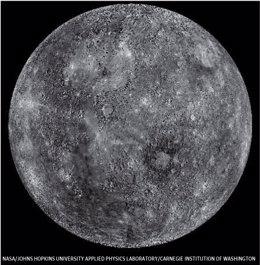 Foto: Mercurio, pintado de negro por el polvo de los cometas (NASA)