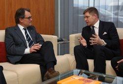 Foto: Mas es reuneix amb el primer ministre d'Eslovàquia (GENERALITAT)