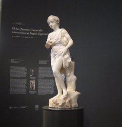 Foto: El 'Sant Joanet' de Miquel Àngel s'exhibeix restaurat per primera vegada al Museu del Prado (EUROPA PRESS)