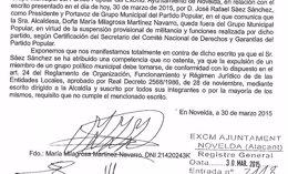 Foto: Martínez se sentará en el banquillo como alcaldesa del PP en Novelda (EUROPA PRESS)