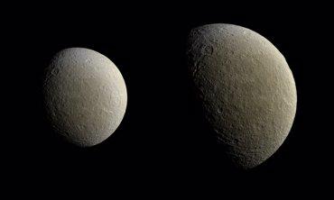 Foto: Cassini fotografía la luna helada de Saturno Rhea a todo color (NASA/JPL-CALTECH/SPACE SCIENCE INSTITUTE)