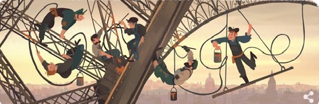 Foto: Google celebra el 126 aniversario de la Torre Eiffel con un doodle