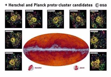 Foto: Hallan cientos de nuevas galaxias formadas poco después del Big Bang (COLABORACIÓN PLANCK)