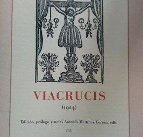 Foto: Parlamento.- El Parlamento colabora en la edición facsimilar del 'Vía crucis' de Gerardo Diego (PARLAMENTO)