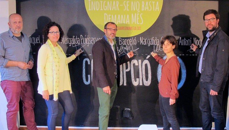 Los candidatos de M�S firman el compromiso �tico 'Corrupci�n cero' para contribuir a la dignificaci�n de la pol�tica