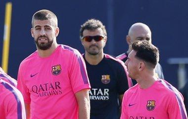 """Foto: Piqué: """"A poco que pueda, Messi va a estar en Balaídos"""" (ALBERT GEA / REUTERS)"""