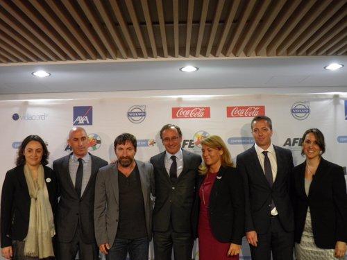 Rubiales, De la Torre y Alonso en la presentación de la campaña