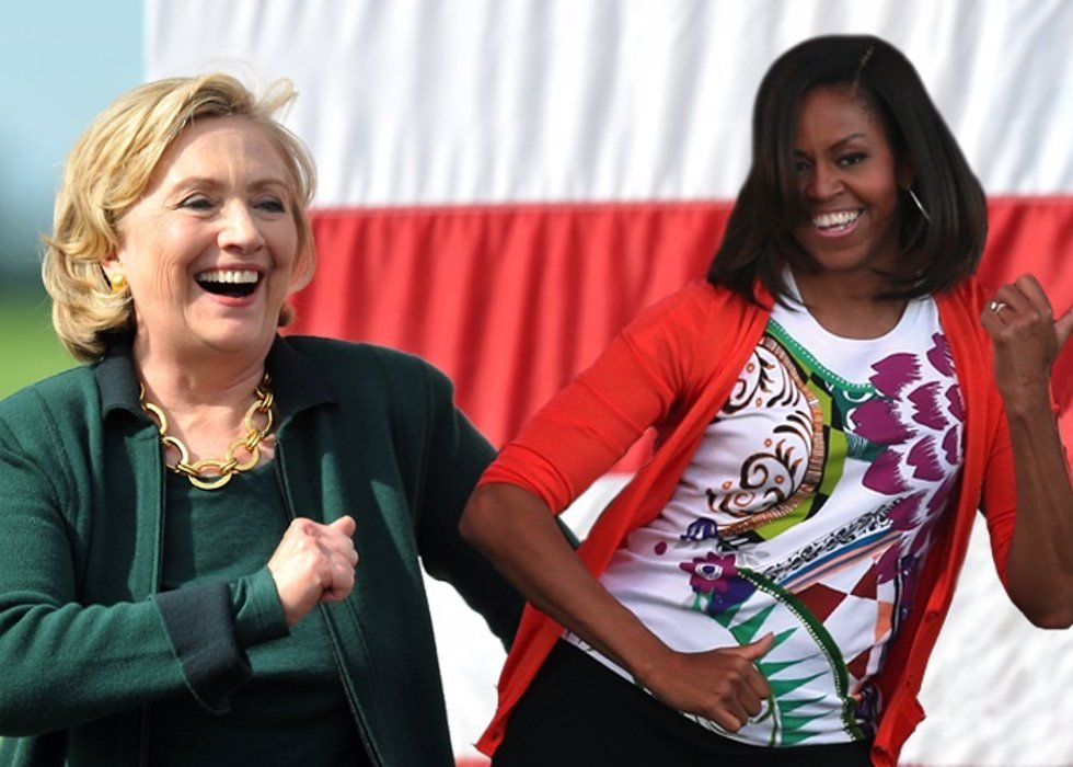 hillary rodham vs michelle obama For more than 16 hours, mr obama hosted former president george w bush and former secretary of state hillary rodham clinton aboard air force one — part of a global pilgrimage that brought.