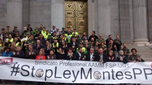 Agentes forestales contra la Ley de Montes en el Congreso