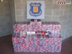 Foto: Tres detinguts a Sort per contraban de tabac andorrà (MOSSOS D'ESQUADRA)