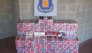 Tres detinguts a Sort per contraban de tabac andorrà