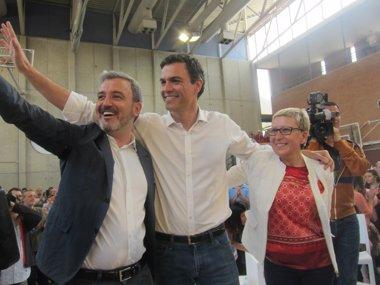 """Foto: Sánchez promete """"instituciones de España"""" en Barcelona si es presidente (EUROPA PRESS)"""
