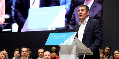 """Foto: Clavijo (CC) apuesta por un proyecto nacionalista fuerte porque """"Canarias se la juega en estas elecciones"""" (CEDIDO POR CC)"""