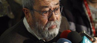 Foto: Cándido Méndez participa el lunes en una asamblea de UGT en Oviedo (EUROPA PRESS)