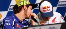 """Foto: Rossi: """"Lo siento por Márquez, pero me tocó por detrás"""" (MOTOGP.COM)"""