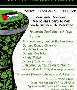 Foto: UNED organiza un concierto solidario para traer niños palestinos a España (www.uned.es)