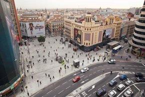 Foto: Los teatros de Gran Vía podrán exhibir publicidad en sus fachadas, igual que los cines (AYUNTAMIENTO DE MADRID/ EUROPA PRESS)