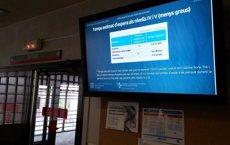 Foto: Salut instal·la pantalles per saber el temps d'espera a Urgències als centres de l'ICS (ICS)
